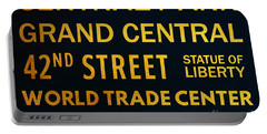 New York City Subway Sign Typography Art 8 Portable Battery Charger