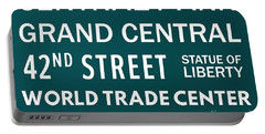 New York City Subway Sign Typography Art 9 Portable Battery Charger