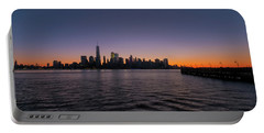 New York City Sunrise Portable Battery Charger by Tom Singleton