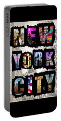New York City Text Portable Battery Charger
