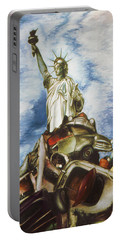 New York Liberty 77 - Fantasy Art Painting Portable Battery Charger