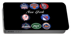 New York Professional Sport Teams Collage  Portable Battery Charger