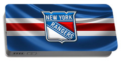 New York Rangers - 3d Badge Over Flag Portable Battery Charger