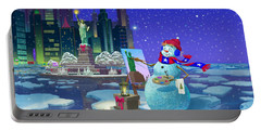 New York Snowman Portable Battery Charger