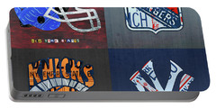 New York Sports Team License Plate Art Giants Rangers Knicks Yankees Portable Battery Charger