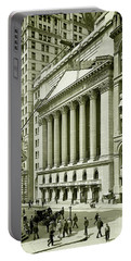 New York Stock Exchange Under Construction 1903 Portable Battery Charger