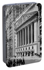 New York Stock Exchange Circa 1904 Portable Battery Charger by Jon Neidert