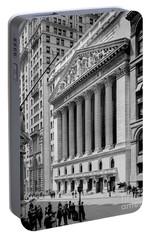 New York Stock Exchange Circa 1904 Portable Battery Charger by Jon Neidert