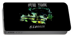 New York Streets Portable Battery Charger by Kim Gauge