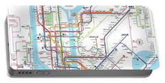 New York Subway Map Portable Battery Charger