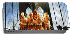 New York Brooklyn Bridge Fantasy Collage Portable Battery Charger