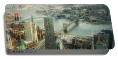 New York View Of East River Portable Battery Charger
