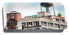 Portable Battery Charger featuring the photograph New York Water Towers 18 - Greenpoint Water Tower by Gary Heller