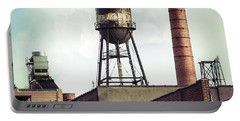 New York Water Towers 19 - Urban Industrial Art Photography Portable Battery Charger