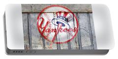 New York Yankees Top Hat Rustic 2 Portable Battery Charger
