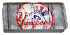 New York Yankees Top Hat Rustic Portable Battery Charger
