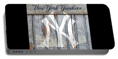 New York Yankees Rustic Portable Battery Charger