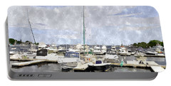 Newburyport Harbor Nhwc Portable Battery Charger by Jim Brage