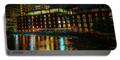 Portable Battery Charger featuring the photograph Newly Gentrified Warehouse At Night by Chris Lord