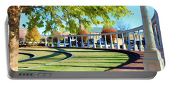 Portable Battery Charger featuring the photograph Newnan Park Ampitheatre by Roberta Byram