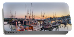Newport Harbor At Dusk Portable Battery Charger
