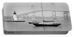 Newport, Rhode Island Serene Harbor Scene Portable Battery Charger