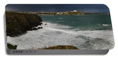 Newquay Squalls On Horizon Portable Battery Charger by Nicholas Burningham