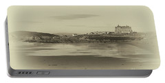 Newquay With Old Watercolor Effect  Portable Battery Charger by Nicholas Burningham