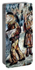 Portable Battery Charger featuring the digital art Newsboy by Pennie McCracken
