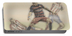 Neymar Fight For The Bal Portable Battery Charger by Don Kuing