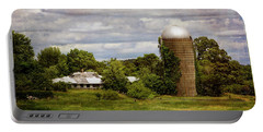 Portable Battery Charger featuring the photograph Nh Farm Scene - Weathered To Perfection by Betty Denise