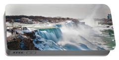 Portable Battery Charger featuring the photograph Niagara Falls 4589 by Guy Whiteley