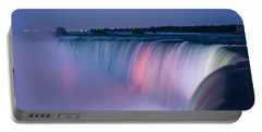 Niagara Falls At Dusk Portable Battery Charger by Adam Romanowicz