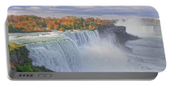 Niagara Falls In Autumn Portable Battery Charger