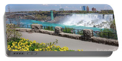 Niagara Falls Spring Time Portable Battery Charger by Charline Xia