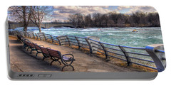 Niagara Rapids In Early Spring Portable Battery Charger by Tammy Wetzel