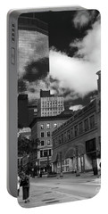 Nicollet Mall Minneapolis Black White Portable Battery Charger