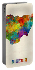 Nigeria Watercolor Map Portable Battery Charger