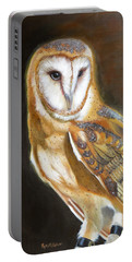 Portable Battery Charger featuring the painting Night Angel by Phyllis Beiser