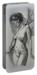 Night Angel Portable Battery Charger by Ray Agius