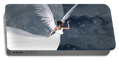 Night Angel Portable Battery Charger by Rosalie Scanlon