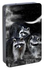 Night Bandits Portable Battery Charger by Carol Cavalaris