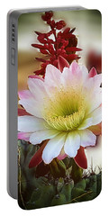 Portable Battery Charger featuring the photograph Night-blooming Cereus 2 by Marilyn Smith
