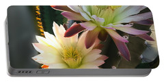 Portable Battery Charger featuring the photograph Night-blooming Cereus 3 by Marilyn Smith