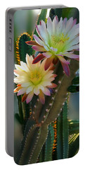 Portable Battery Charger featuring the photograph Night-blooming Cereus 4 by Marilyn Smith