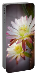 Portable Battery Charger featuring the photograph Night Blooming Cereus by Marilyn Smith