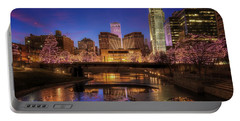 Night Cityscape - Omaha - Nebraska Portable Battery Charger