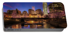 Night Cityscape - Omaha - Nebraska Portable Battery Charger