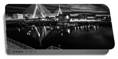 Night Falling On Zakim Bridge Portable Battery Charger