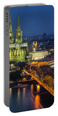 Night Falls Upon Cologne 1 Portable Battery Charger